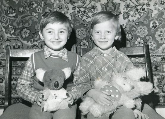 Сережа Жуков и Юра Грязев. 1979 год