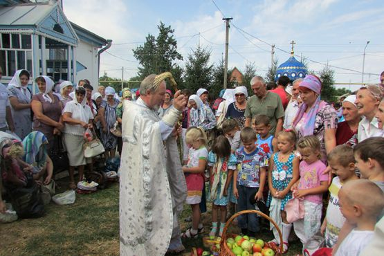Непременный атрибут празднования яблочного Спаса в детском саду —  плоды собственного урожая