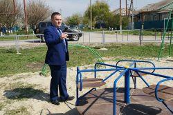Александр Свитенко: «Молодежная – не единственная улица, где в этом году установили  детскую площадку»