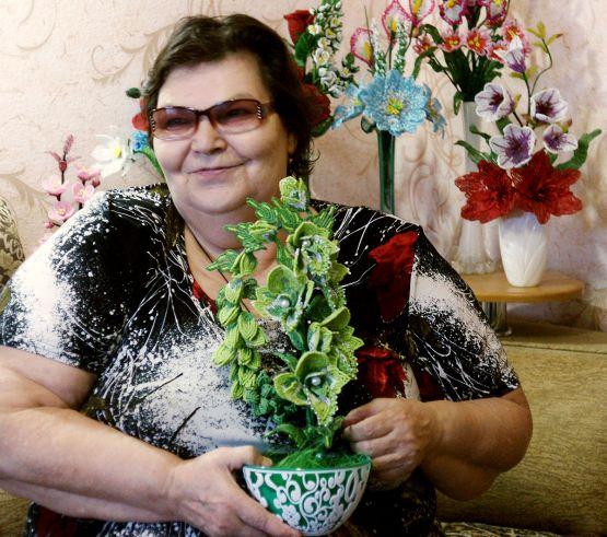 Одна из самых сложных и красивых работ Надежды Фендриковой — орхидея из бисера
