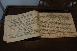 После освобождения района от фашистов, дети в школе писали на немецких бланках