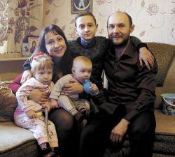 В многодетной семье Натальи и Сергея Артемчук царят мир и согласие