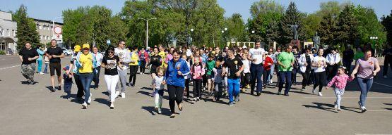 Новопокровчане присоединились к легкоатлетической эстафете в честь 74-й годовщине Победы в Великой Отечественной войне