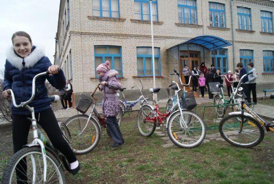 Сельские велотуристы